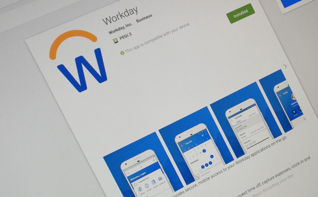Workday App Screen