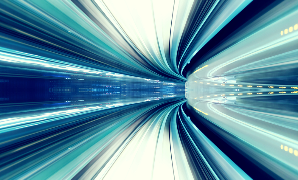 Abstract speed image - indicating danger of Workday deployment too quickly