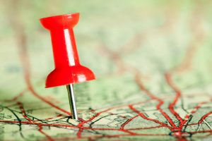 Pin in a roadmap representing Workday Roadmapping