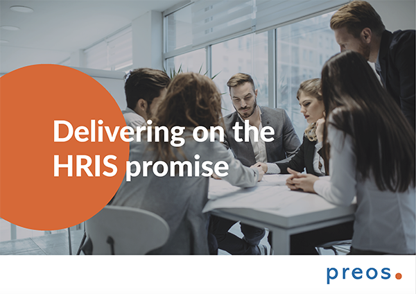Preos Delivering on the HRIS research report front cover